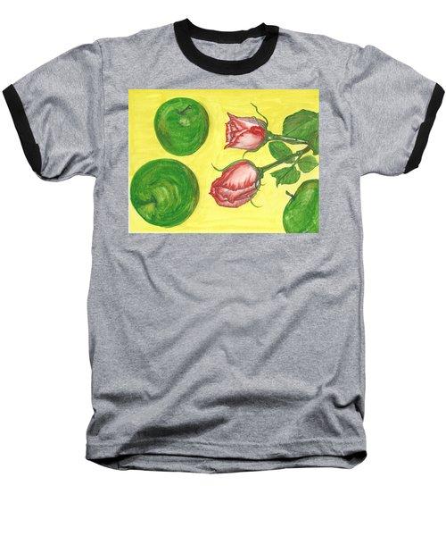 Apples And Roses Baseball T-Shirt