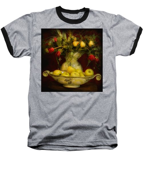 Apples Pears And Tulips Baseball T-Shirt