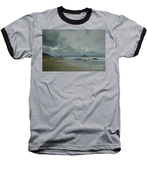 Approaching Storm - Morro Rock Baseball T-Shirt