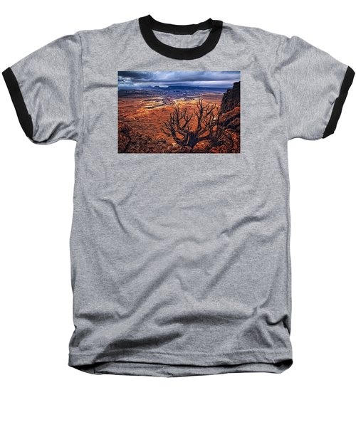 Baseball T-Shirt featuring the photograph Approaching Storm by Priscilla Burgers