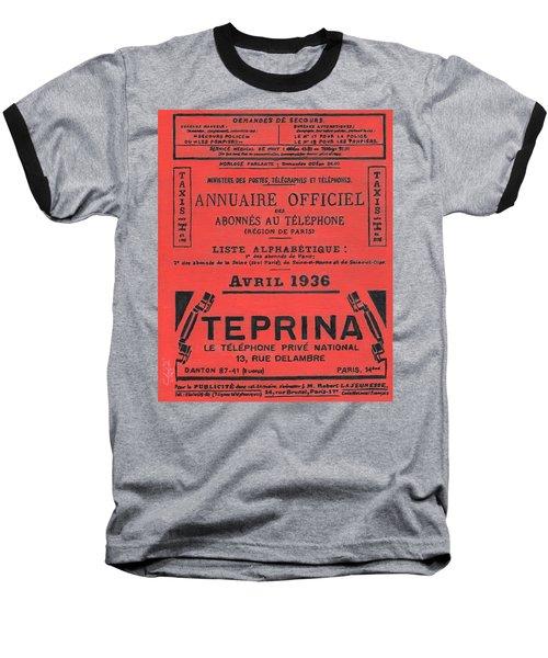 April In Paris 1936 Baseball T-Shirt
