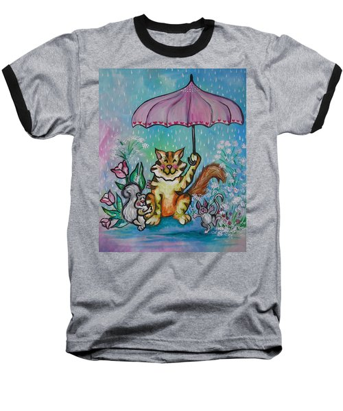 April Showers Baseball T-Shirt by Leslie Manley