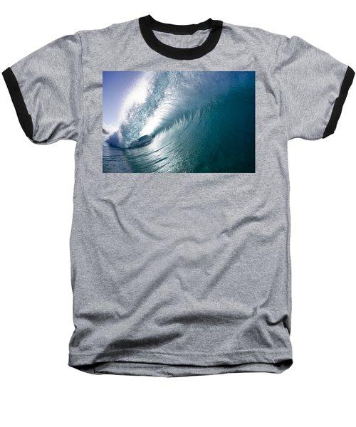 Aqua Curl Baseball T-Shirt