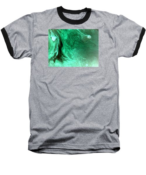 Aqua Tree Baseball T-Shirt by Salman Ravish