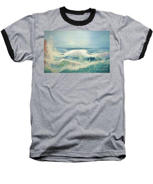 Aqua Sea Scape Baseball T-Shirt