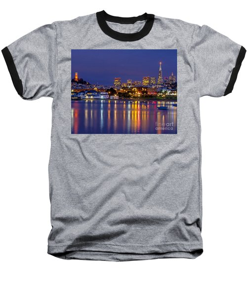Aquatic Park Blue Hour Baseball T-Shirt