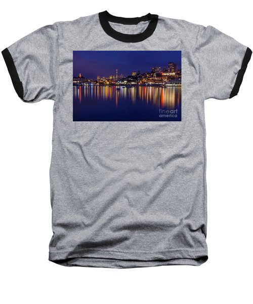 Aquatic Park Blue Hour Wide View Baseball T-Shirt