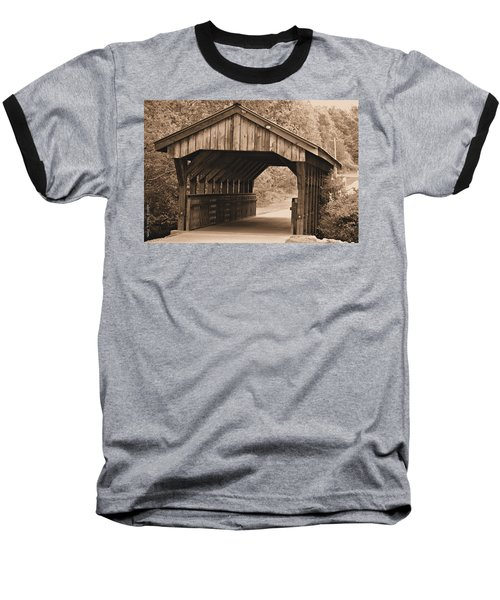 Arabia Mountain Covered Bridge Baseball T-Shirt