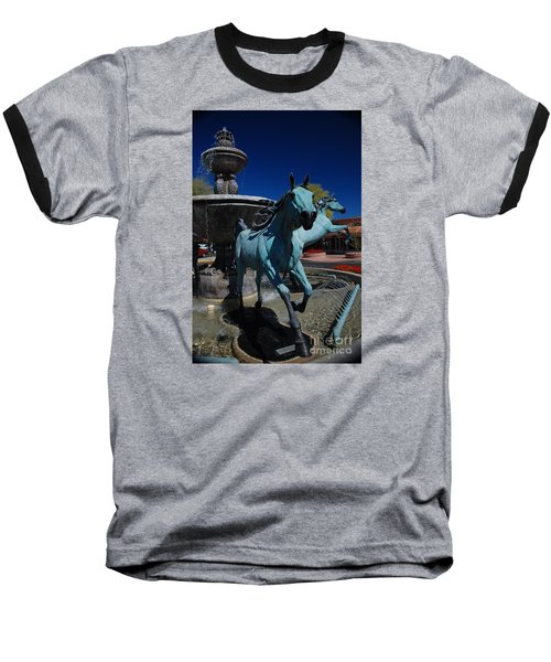 Arabian Horse Sculpture Baseball T-Shirt