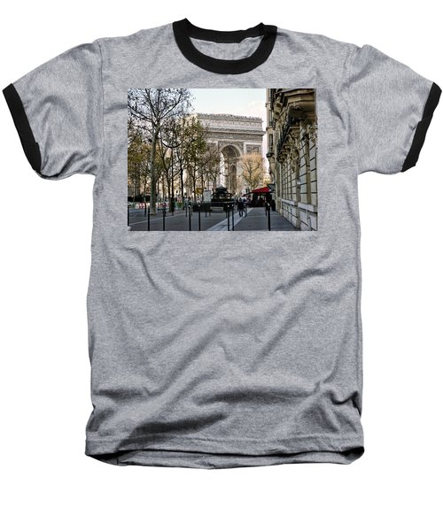 Arc De Triomphe Paris Baseball T-Shirt by Lynn Bolt
