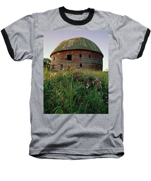 Arcadia Round Barn And Wildflowers Baseball T-Shirt