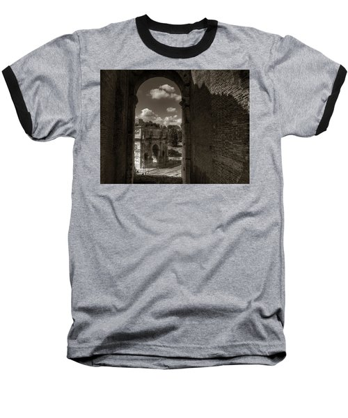 Arch Of Constantine From The Colosseum Baseball T-Shirt
