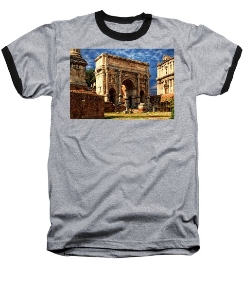 Arch Of Septimius Severus Baseball T-Shirt