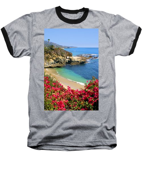 Arch Rock And Beach Laguna Baseball T-Shirt