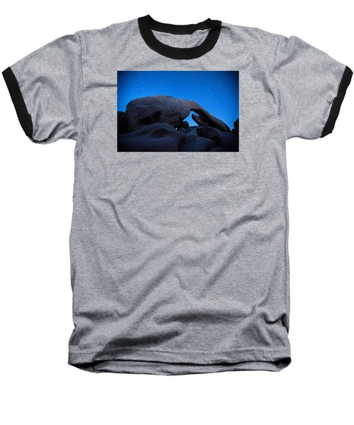 Baseball T-Shirt featuring the photograph Arch Rock Starry Night 2 by Stephen Stookey