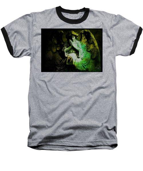 Baseball T-Shirt featuring the digital art Archangel Uriel by Absinthe Art By Michelle LeAnn Scott
