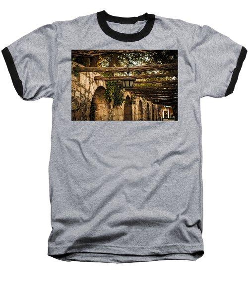 Arches At The Alamo Baseball T-Shirt by Melinda Ledsome