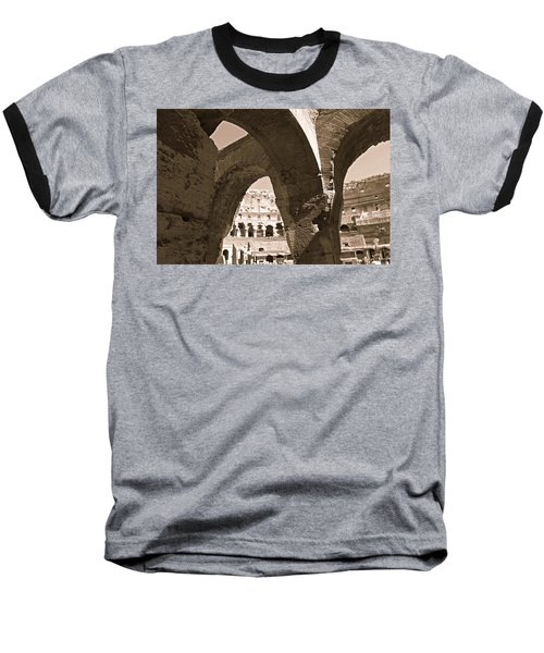 Arches In The Colosseum Baseball T-Shirt