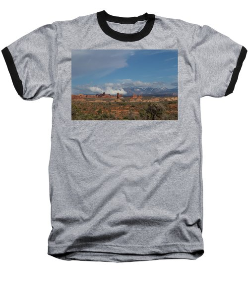 Arches National Monument Utah Baseball T-Shirt