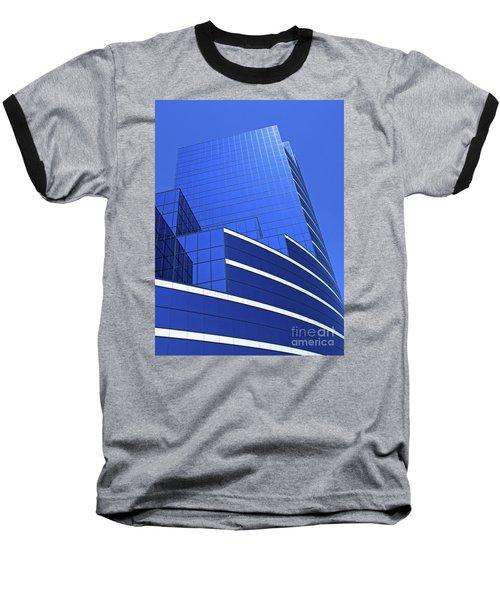 Architectural Blues Baseball T-Shirt by Ann Horn