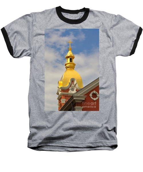 Architecture - Golden Cross Baseball T-Shirt by Liane Wright
