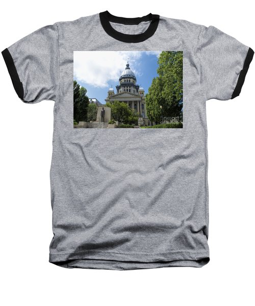 Architecture - Illinois State Capitol  - Luther Fine Art Baseball T-Shirt by Luther Fine Art