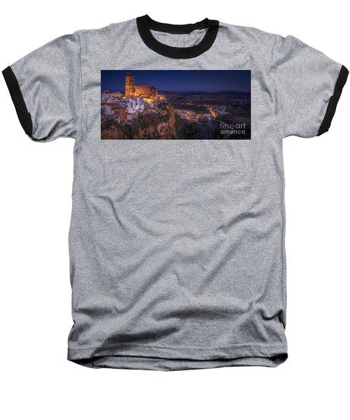 Arcos De La Frontera Panorama From Balcon De La Pena Cadiz Spain Baseball T-Shirt