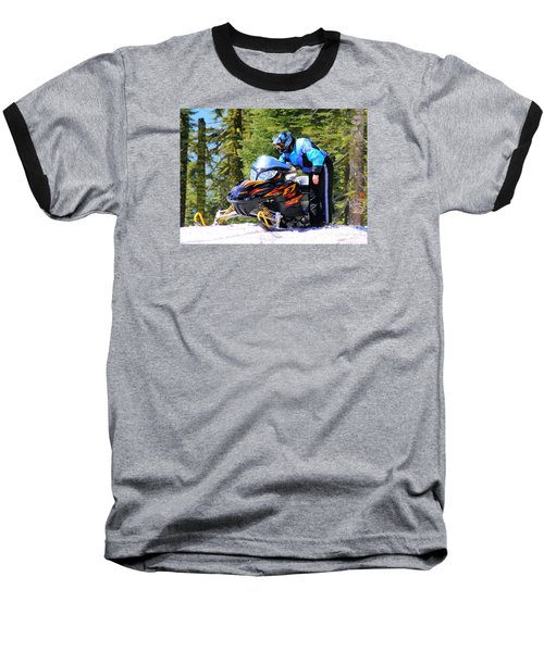 Arctic Cat Snowmobile Baseball T-Shirt
