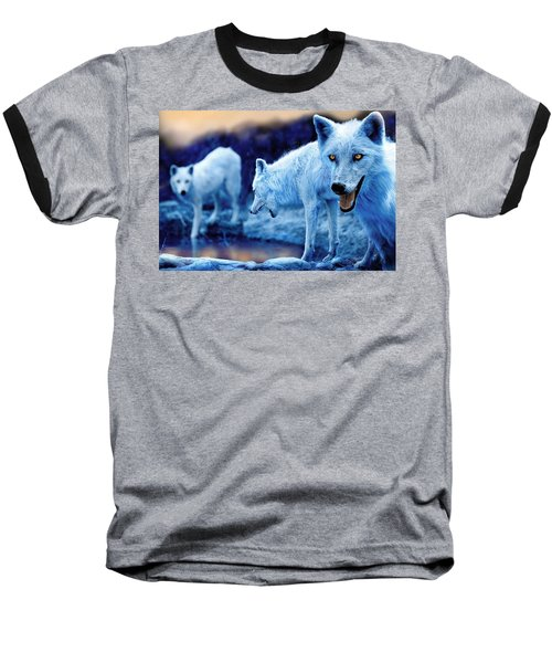 Arctic White Wolves Baseball T-Shirt