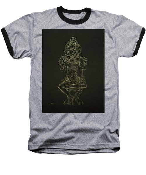 Baseball T-Shirt featuring the drawing Ardhanarishvara I by Michele Myers