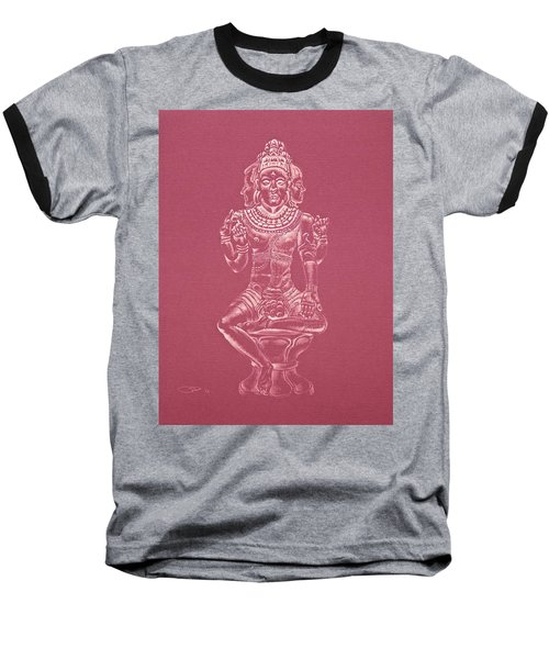 Baseball T-Shirt featuring the drawing Ardhanarishvara II by Michele Myers