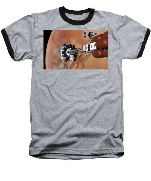 Baseball T-Shirt featuring the digital art Ares1 Captured Over Valles Marineris by David Robinson