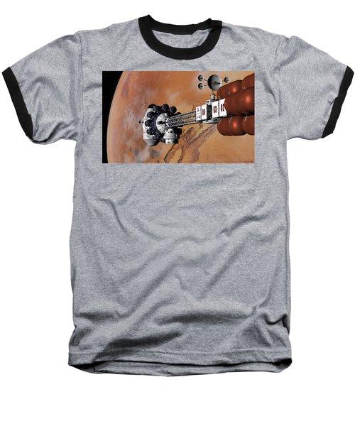 Ares1 Captured Over Valles Marineris Baseball T-Shirt by David Robinson