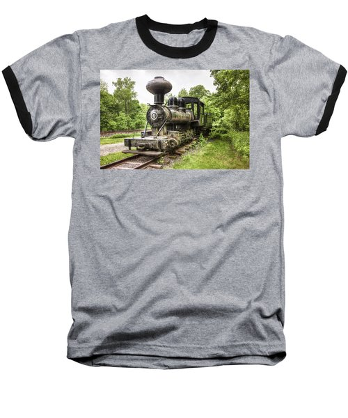 Baseball T-Shirt featuring the photograph Argent Lumber Company Engine No. 4 - Antique Steam Locomotive by Gary Heller
