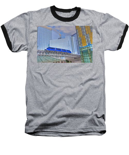 Aria Las Vegas Nevada Hotel And Casino Tram  Baseball T-Shirt