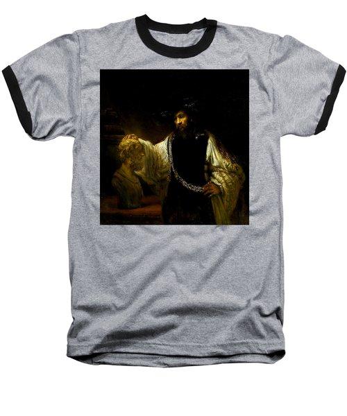 Aristotle Contemplating A Bust Of Homer Baseball T-Shirt