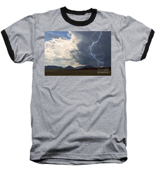 Arizona Desert Lightning  Baseball T-Shirt by Janice Rae Pariza