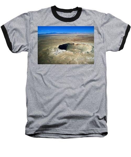 Arizona Meteor Crater Baseball T-Shirt