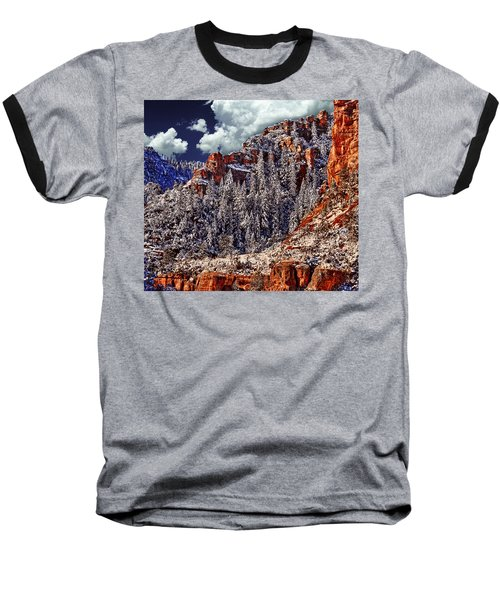 Arizona Secret Mountain Wilderness In Winter Baseball T-Shirt