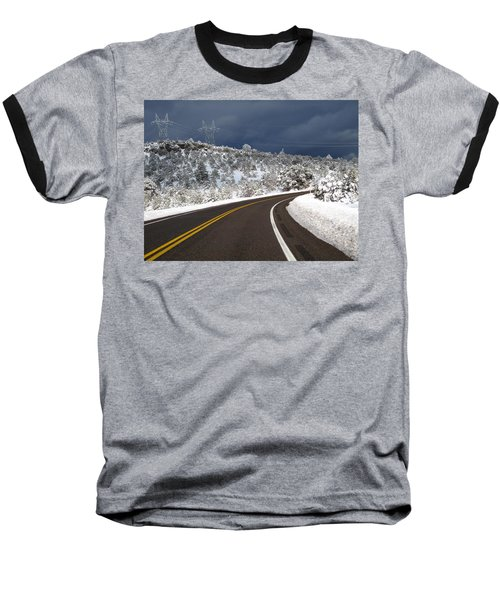 Arizona Snow 2 Baseball T-Shirt