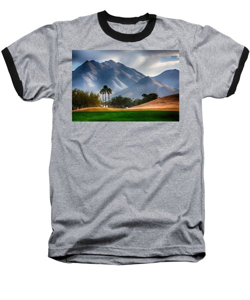 Arizona Sunrise Golfing Baseball T-Shirt