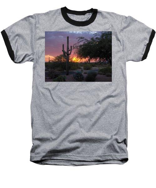 Arizona Sunset Baseball T-Shirt by Catherine Swerediuk