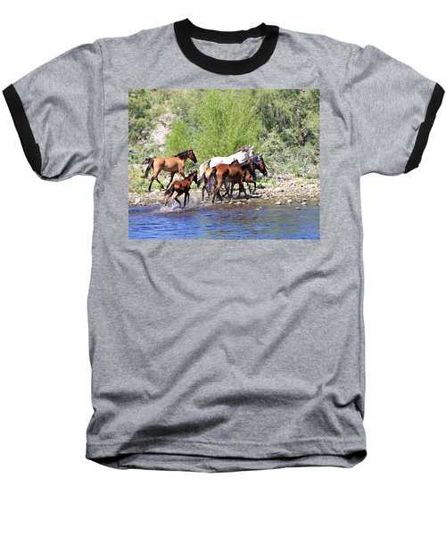 Arizona Wild Horse Family Baseball T-Shirt