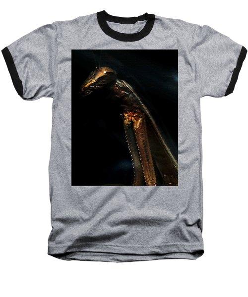 Armored Praying Mantis Baseball T-Shirt