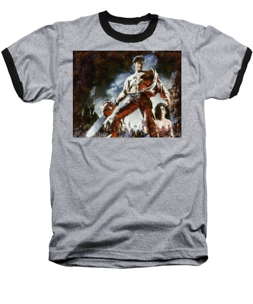 Baseball T-Shirt featuring the painting Army Of Darkness by Joe Misrasi