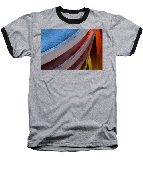 Around And Down Baseball T-Shirt by Greg Allore
