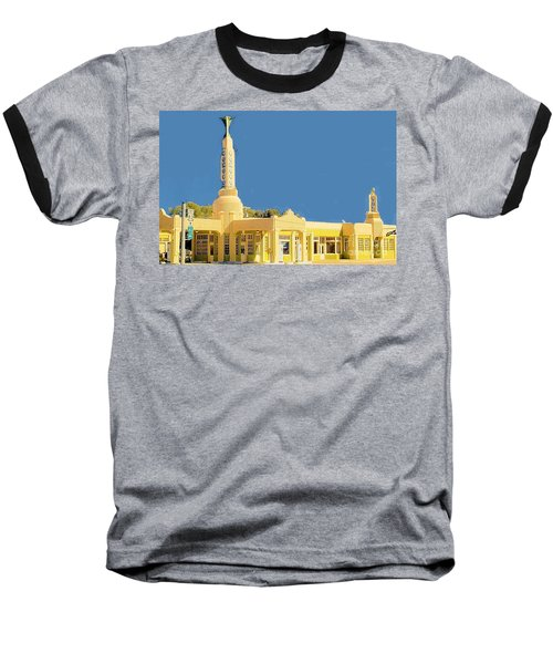 Baseball T-Shirt featuring the photograph Art Deco Gas Station by Janette Boyd
