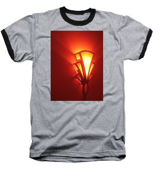 Baseball T-Shirt featuring the photograph Art Deco Light Fox Tucson Arizona  Theater  2006 by David Lee Guss