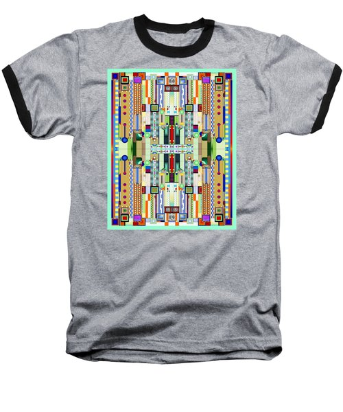 Art Deco Stained Glass 2 Baseball T-Shirt