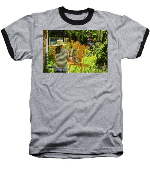 Art In The Garden Baseball T-Shirt by Mary Carol Story